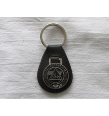 Key holder black with 'IMZ' metal logo