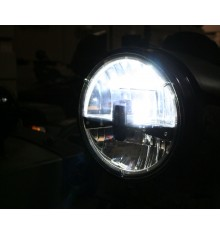 Headlight insert LED ring black