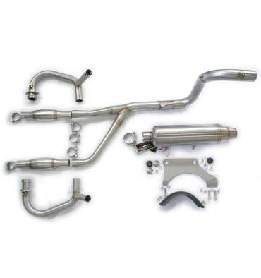 2 in 1 Offroad system, stainless with KAT