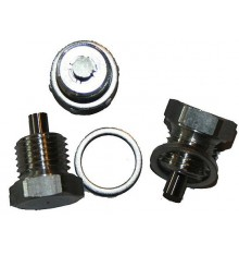 Drain plug magnetic aluminium with sealing