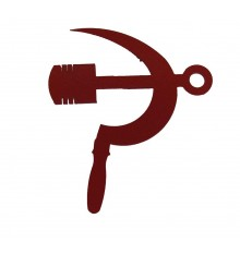 "Logo ""piston and sickle"", red"