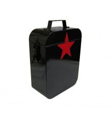 Steel box black with red star