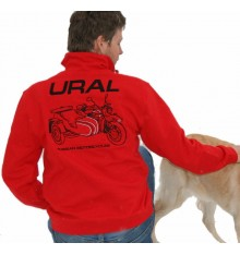 Sweater red with Ural logo