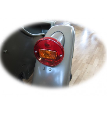 Retro style lights for sidecar complete conversion kit front and rear