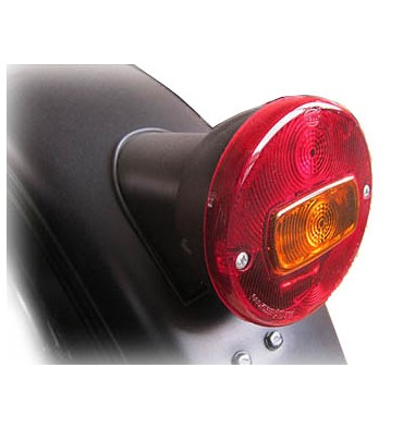 Retro style lights for bike complete conversion kit rear