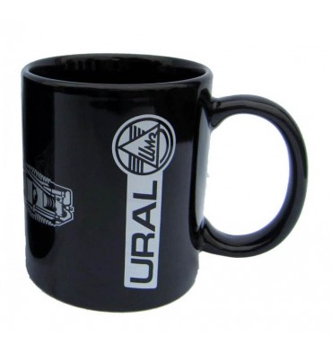 Ural ceramic cup black with logo