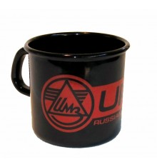 Enamel cup with Ural logo