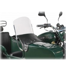 Sidecar windscreen assembly, stainless frame until 2012