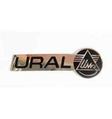 Ural logo gastank sticker, chrome rightside