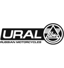 Sticker Ural logo 100 cm black/white rightside