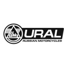 Sticker Ural logo 100 cm black/white leftside