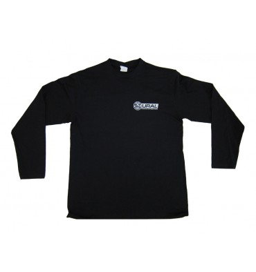 Longshirt in black with print in silver