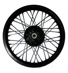 19'' wheel (discbrake) w/o tire, w/o brake disc, w/o disc adapter, aluminium rim black