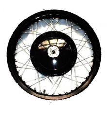 19'' wheel (drumbrake) w/o tire, aluminum rim black