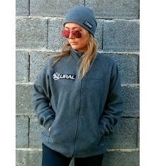 Fleece Sweater Asphalt mit Ural Logo