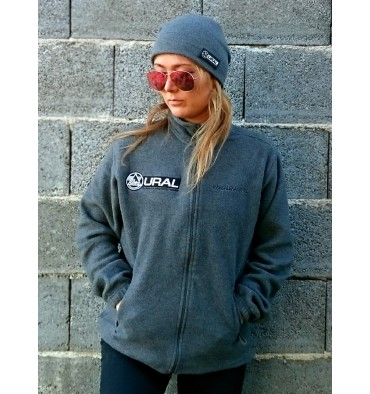 Fleece sweater Asphalt with Ural logo